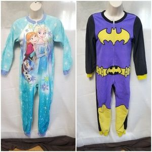Other - Set of 2 One Piece Pajamas Frozen & Batgirl 10PJ01